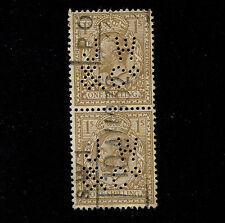 1924 GB KGV 1s Sc#200 SG#429 Perfin JW/&Co Vertical Pair Used