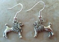 Standard Poodle Dog Earrings silver, Silver Plated Wires, animal lover pet show