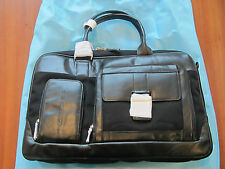 Piquadro, Madrid, Black Womens shopping handbag/Office briefcase big BD1735S10/N