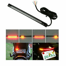 48 LED Bike Light Strip Tail Brake Turn Signal Red & Amber For YAMAHA FZ16