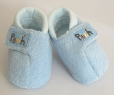 Blue Velboa Disney Pooh Embridered Slip-on Baby Boy Slipper - 0-6 months NEW!