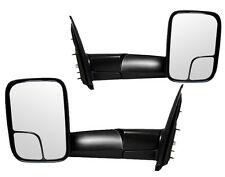 NEW Power Black Flip-up Towing Mirror PAIR / FOR 02-09 DODGE RAM 1500 2500 3500