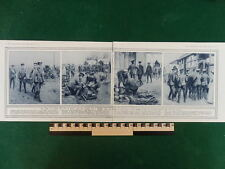 1914 STRETCHER BEARERS RED CROSS AMBULANCE FIELD HOSPITAL (DOUBLE PAGE) WW1 WWI