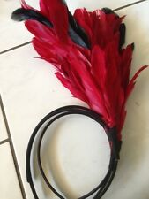 Free ShippingCarnival Races Melbourne Cup Fascinator Headband BlueRed Blue Black