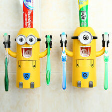 Cute Cartoon Toothbrush Holder Cup Automatic Toothpaste Dispenser Children