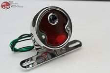 Custom Deluxe Motorycle Rear Fender Blue Dot Tail Light Lamp 1932 Ford Style New