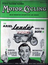 Feb 12 1959 ARIEL 'Leader 250cc' Motor Cycle ADVERT - Magazine Cover Print