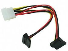 4 Pin Molex LP4 to Dual Right Angle Sata Adapter Power Cable