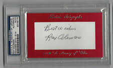 Ray Coleman 2010 Historic Autographs In Memory Of  Browns PSA/DNA Auto SP /14