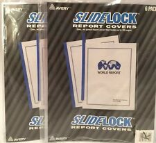 2 New 6 Packs AVERY Gripping Sliding Bar Report Covers Assorted Bars Total 12