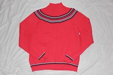 WOMENS SWEATER = IZOD = SIZE Large = pink turtle neck cotton = ME61