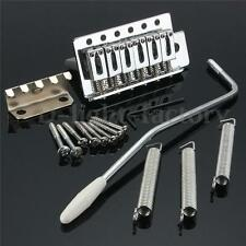 For Fender Strat 1 Set 6 Strings Chrome Guitar Tremolo Bridge With Bar Parts
