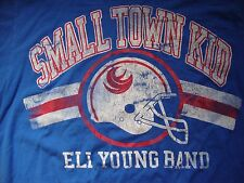 Eli Young Band Small Town Kid Country Concert Distressed Blue T Shirt Size L