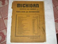 MICHIGAN SHOVELs & Cranes Parts Books & Instructions Vintage TMC-16 and more