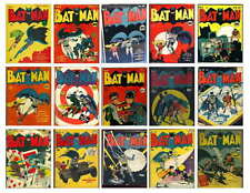 VINTAGE BATMAN COMIC PHOTO-FRIDGE MAGNETS ISSUE 1 TO 15