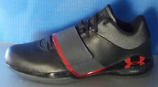 MENS UNDER ARMOUR MICRO G BLOODLINE BLACK / BLACK / RED SIZE 8.5