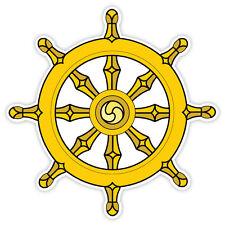Dharma wheel etichetta sticker 11cm x 11cm
