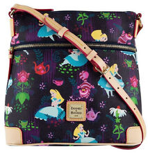 Disney Dooney & Bourke Alice in Wonderland Cheshire Letter Carrier Crossbody Bag