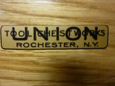 """""""UNION TOOL CHEST WORKS EMBLEM"""" for Vintage Machinist Chest"""