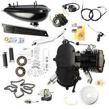 80CC 2-STROKE CYCLE BLACK MOTOR MUFFLER MOTORIZED BIKE BICYCLE ENGINE GAS KIT