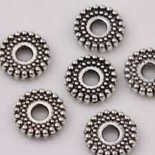 50Pcs Tibetan Silver 8x2mm Daisy Spacer Beads Bead Jewellery Findings DIY