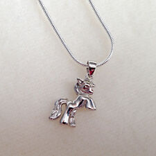 beautiful  LITTLE PONY HORSE SILVER NECK CHAIN 3D gift charm birthday