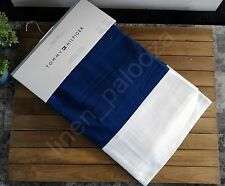 Tommy Hilfiger CABANA STRIPE Navy Blue White Window Curtain Panels 50x84 PAIR
