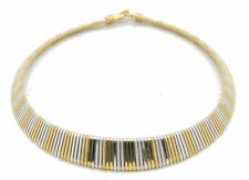 Ancient Egypt Egyptian Trifari Style Queen Royal Choker Necklace 2 Tone Vintage