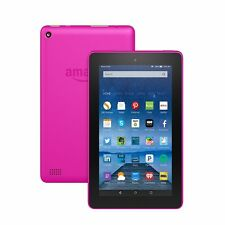 "Amazon Kindle Fire 7"" 5th Gen IPS MAGENTA 16GB Front & Rear Camera - 2016 Model"