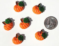 Pumpkins Resin Flatbacks hair bow embellishments scrapbooking crafts glue on
