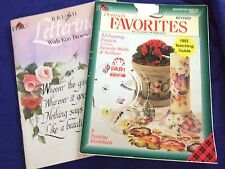 "2 PLAID TOLE PAINTING WORK BOOKS""BRUSH LETTERING""&FAVORITES"" CALLIGARAPHY&MORE"