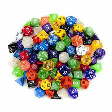 100 Polyhedral Dice Set Casino Las Vegas Opaque 6 12+ Sided Red Purple Black+