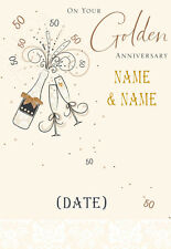 GOLDEN WEDDING CARD ANNIVERSARY!! Personalised QUALITY Card! ANY 2 NAMES!!