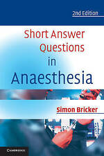 Short Answer Questions in Anaesthesia by Simon Bricker (Paperback, 2002)