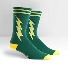 Sock It To Me Men's Crew Socks - Super Hero! Green & Yellow