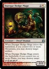 DUERGAR HEDGE-MAGE Commander 2011 MTG White/Red Creature — Dwarf Shaman Unc