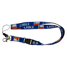 CHILE BLUE COUNTRY FLAG LANYARD KEYCHAIN PASSHOLDER ..  NEW