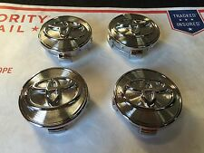 NEW TOYOTA SET OF 4 CENTER WHEEL WHEELS HUB HUBS CAP CAPS RIMS 62MM CHROME LINES
