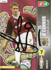 A Panini 2008 card. Featuring & personally signed by James O'Connor of Burnley.