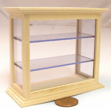 1:12 Scale Natural Finish Shop Counter Display Cabinet Dolls House Miniature 137