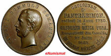 Romania Bronze 1868 Medal 41mm Carol I Bucharest Restoration Panteleimon Hospice