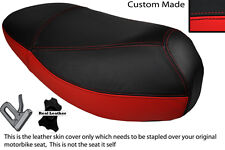 RED & BLACK CUSTOM FITS MALAGUTI CIAK 50 DUAL LEATHER SEAT COVER ONLY