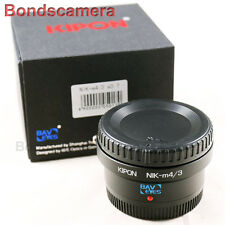 Kipon Baveyes 0.7x Optic Reducer Adapter Nikon F Lens to Micro 4/3 GX7 E-M1 GH4