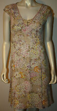 ELIE TAHARI Champagne Pink Purple Silk Floral Dress 6P