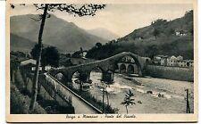 1938 Borgo a Mozzano Ponte del Diavolo Guller Lucca FP B/N VG