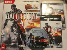 SONY PLAYSTATION 3 PS3 GAME BATTLEFIELD 4 IV + PRIMA OFFICIAL STRATEGY GUIDE