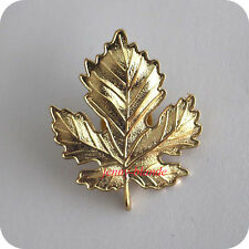Women Alloy Gold Color Maple Leaf Shape Brooches Breast Pin Corsage Collar Pins