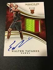 2015-16 IMMACULATE WALTER TAVARES ROOKIE PATCH AUTO 97/99 RPA RC HAWKS