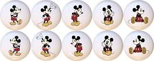 Set of 10 Vintage Mickey Mouse CERAMIC Drawer Pulls Dresser Drawer Cabinet Knobs
