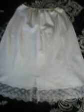 """VINTAGE CHRISTIAN DIOR Womens Lacy Lace Half Slip Size 25"""" OR MEDIUM"""
